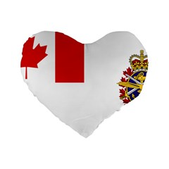 Flag Of Canadian Armed Forces Standard 16  Premium Flano Heart Shape Cushions by abbeyz71