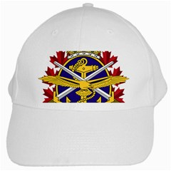 Badge Of Canadian Armed Forces White Cap by abbeyz71