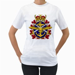 Badge Of Canadian Armed Forces Women s T-shirt (white) (two Sided) by abbeyz71