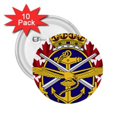 Badge Of Canadian Armed Forces 2 25  Buttons (10 Pack)  by abbeyz71