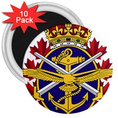 Badge Of Canadian Armed Forces 3  Magnets (10 Pack)