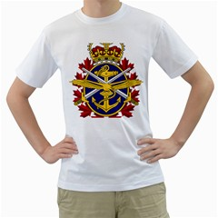 Badge Of Canadian Armed Forces Men s T Shirt (white) (two Sided)