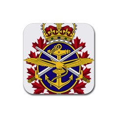 Badge Of Canadian Armed Forces Rubber Coaster (square)  by abbeyz71