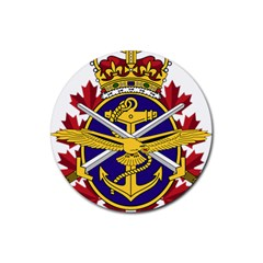Badge Of Canadian Armed Forces Rubber Round Coaster (4 Pack)  by abbeyz71