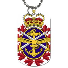 Badge Of Canadian Armed Forces Dog Tag (one Side)