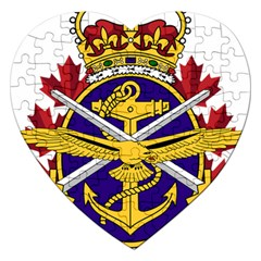 Badge Of Canadian Armed Forces Jigsaw Puzzle (heart) by abbeyz71