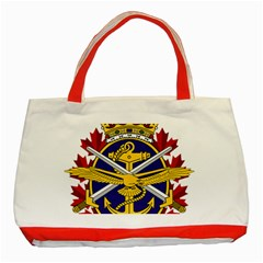 Badge Of Canadian Armed Forces Classic Tote Bag (red) by abbeyz71