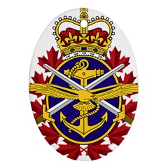 Badge Of Canadian Armed Forces Oval Ornament (two Sides) by abbeyz71