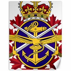 Badge Of Canadian Armed Forces Canvas 12  X 16  by abbeyz71