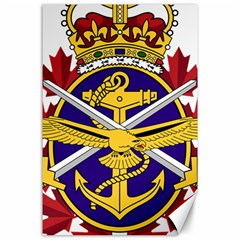 Badge Of Canadian Armed Forces Canvas 24  X 36  by abbeyz71