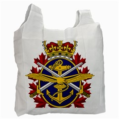 Badge Of Canadian Armed Forces Recycle Bag (one Side) by abbeyz71