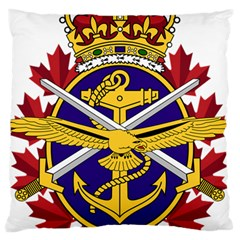 Badge Of Canadian Armed Forces Large Cushion Case (one Side) by abbeyz71