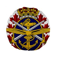 Badge Of Canadian Armed Forces Standard 15  Premium Round Cushions by abbeyz71