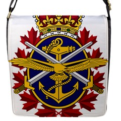 Badge Of Canadian Armed Forces Flap Closure Messenger Bag (s)