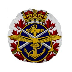 Badge Of Canadian Armed Forces Standard 15  Premium Flano Round Cushions by abbeyz71
