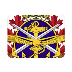 Badge Of Canadian Armed Forces Double Sided Flano Blanket (mini)  by abbeyz71
