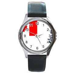 Naval Ensign Of Canada Round Metal Watch by abbeyz71