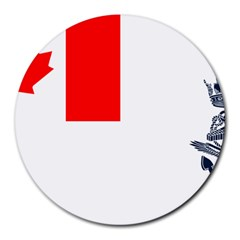 Naval Ensign Of Canada Round Mousepads by abbeyz71
