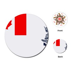 Naval Ensign Of Canada Playing Cards (round) by abbeyz71