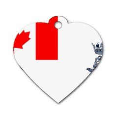 Naval Ensign Of Canada Dog Tag Heart (two Sides) by abbeyz71