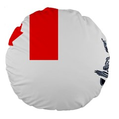 Naval Ensign Of Canada Large 18  Premium Round Cushions by abbeyz71