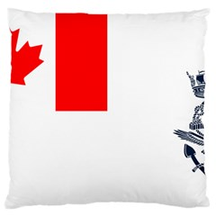 Naval Ensign Of Canada Standard Flano Cushion Case (two Sides) by abbeyz71