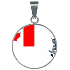 Naval Ensign Of Canada 25mm Round Necklace by abbeyz71