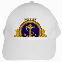 Badge Of Royal Canadian Navy White Cap by abbeyz71