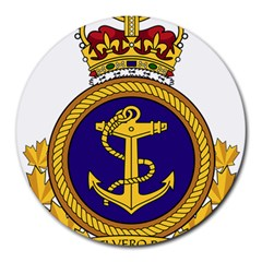 Badge Of Royal Canadian Navy Round Mousepads by abbeyz71