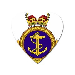 Badge Of Royal Canadian Navy Heart Magnet by abbeyz71