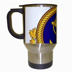Badge Of Royal Canadian Navy Travel Mugs (white) by abbeyz71