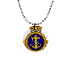 Badge Of Royal Canadian Navy 1  Button Necklace