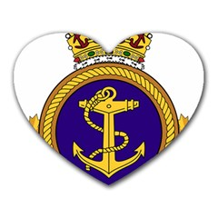 Badge Of Royal Canadian Navy Heart Mousepads by abbeyz71