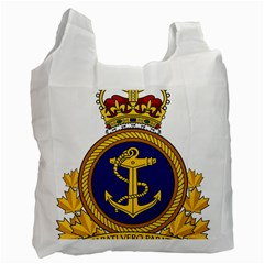 Badge Of Royal Canadian Navy Recycle Bag (one Side) by abbeyz71