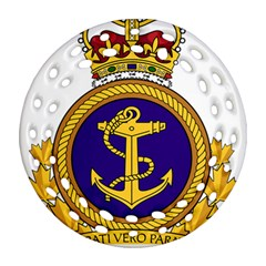 Badge Of Royal Canadian Navy Round Filigree Ornament (two Sides) by abbeyz71