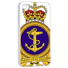 Badge Of Royal Canadian Navy Apple Iphone 4/4s Seamless Case (white) by abbeyz71