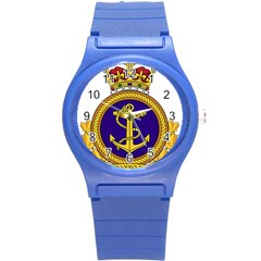 Badge Of Royal Canadian Navy Round Plastic Sport Watch (s) by abbeyz71