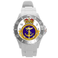 Badge Of Royal Canadian Navy Round Plastic Sport Watch (l) by abbeyz71