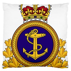 Badge Of Royal Canadian Navy Large Flano Cushion Case (one Side) by abbeyz71