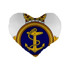 Badge Of Royal Canadian Navy Standard 16  Premium Flano Heart Shape Cushions by abbeyz71