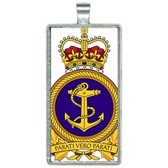 Badge Of Royal Canadian Navy Rectangle Necklace by abbeyz71