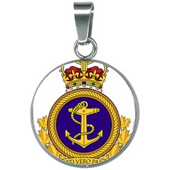 Badge Of Royal Canadian Navy 20mm Round Necklace by abbeyz71