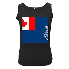Canadian Naval Auxiliary Jack Women s Black Tank Top