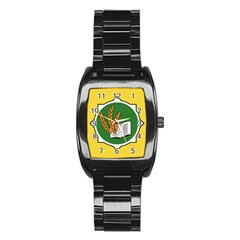 Flag Of Bozeman, Montana Stainless Steel Barrel Watch by abbeyz71