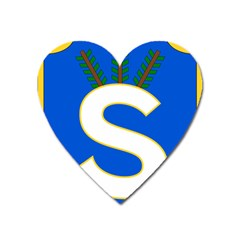 Badge Of The Finnish Civil Guard Heart Magnet by abbeyz71