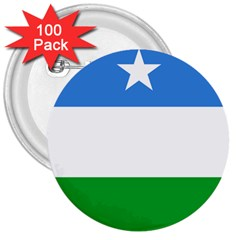 Flag Of Puntland 3  Buttons (100 Pack)  by abbeyz71