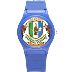 Coat Of Arms Of Puntland Round Plastic Sport Watch (s) by abbeyz71