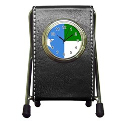 Flag Of West Puntland Pen Holder Desk Clock
