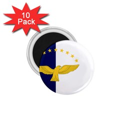Flag Of Azores 1 75  Magnets (10 Pack)