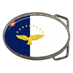 Flag Of Azores Belt Buckles by abbeyz71